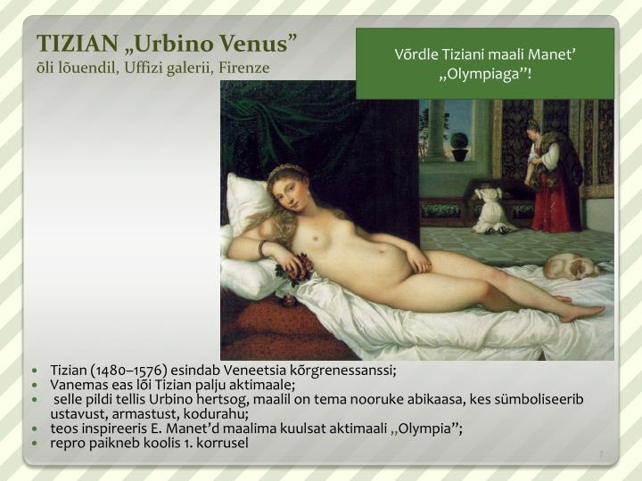 "TIZIAN ""Urbino Venus"""