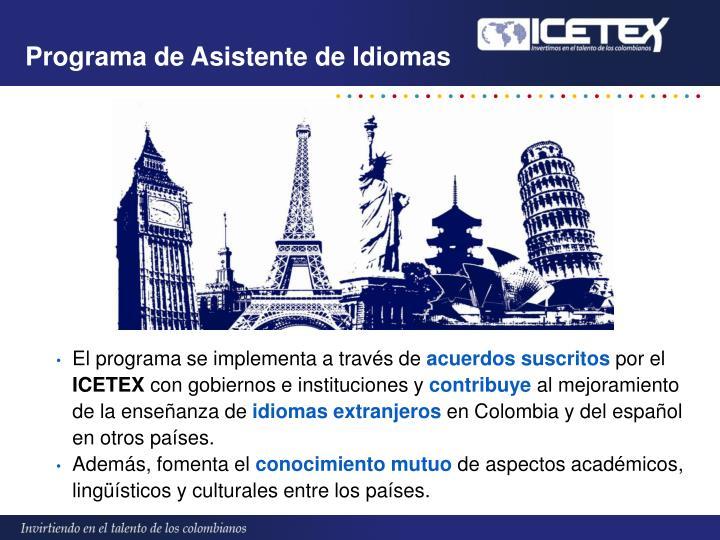 Programa de Asistente de Idiomas