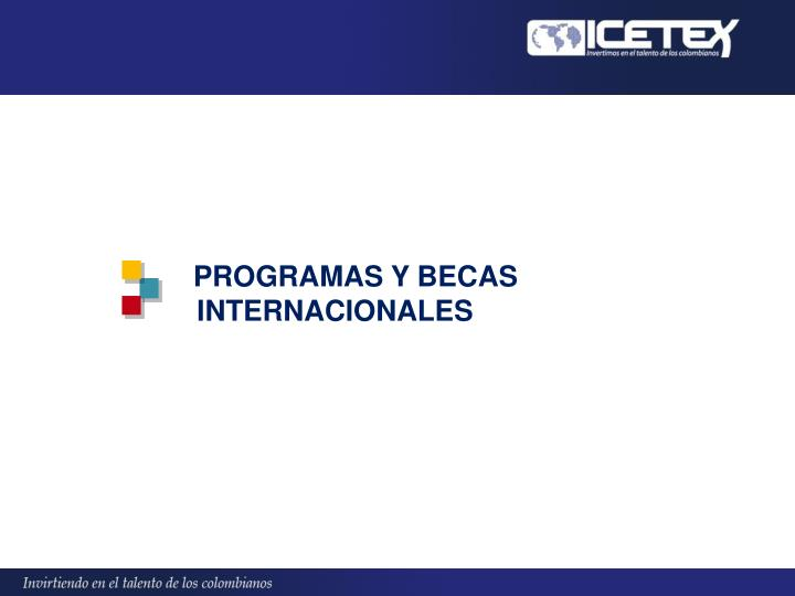PROGRAMAS Y BECAS INTERNACIONALES