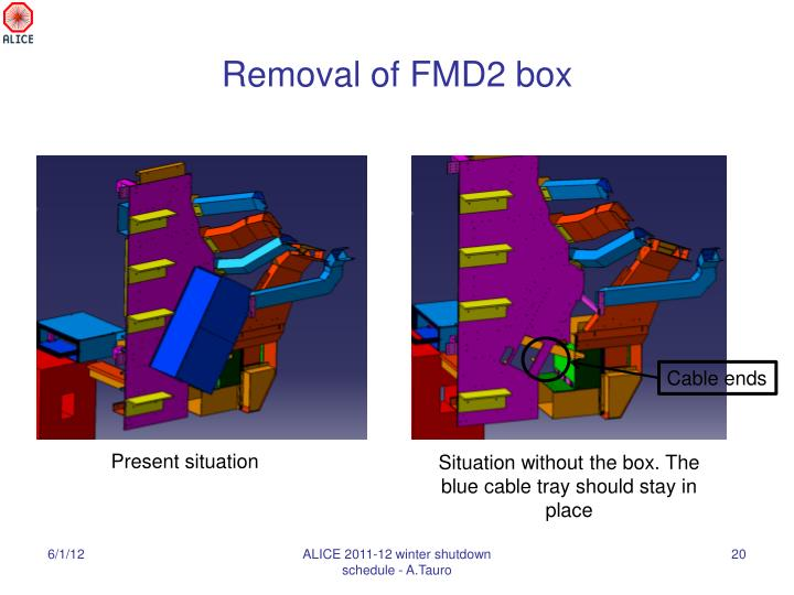 Removal of FMD2 box