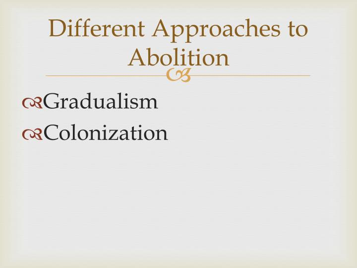 Different approaches to abolition