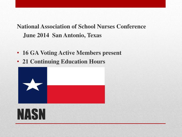 National Association of School Nurses Conference