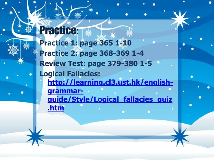 Practice: