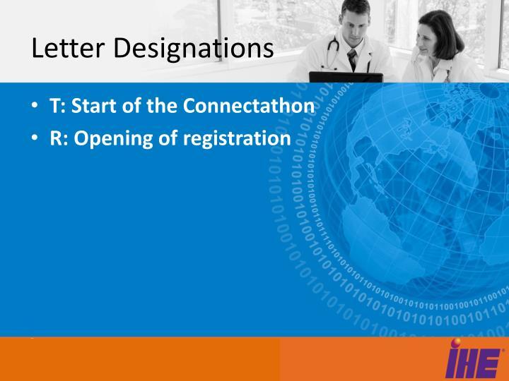 Letter Designations