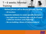 t 6 weeks monitor training