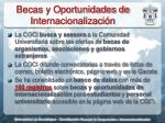 becas y oportunidades de internacionalizaci n