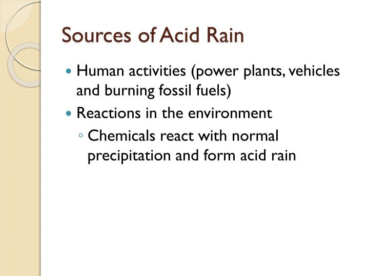 Sources of acid rain