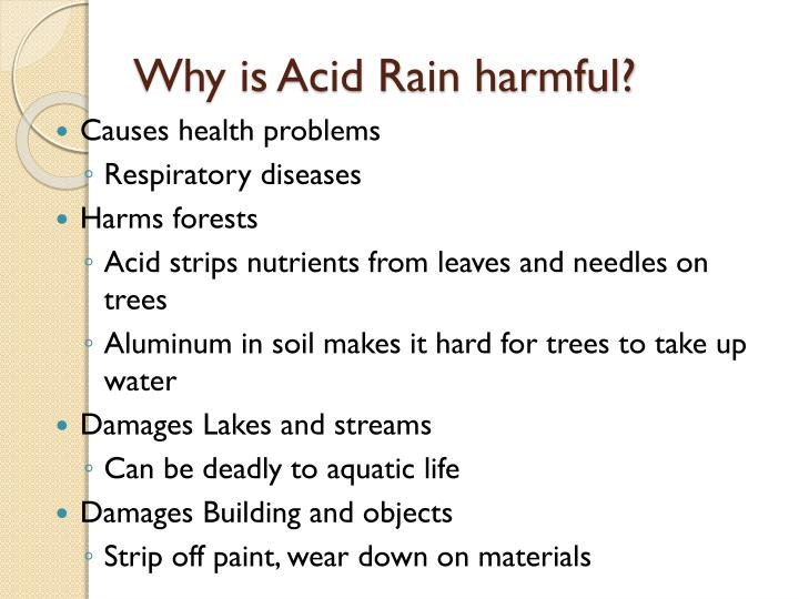 Why is Acid Rain harmful?