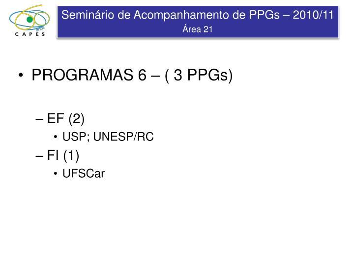 PROGRAMAS 6 – ( 3