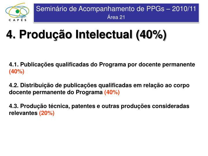 4. Produção Intelectual (40%)