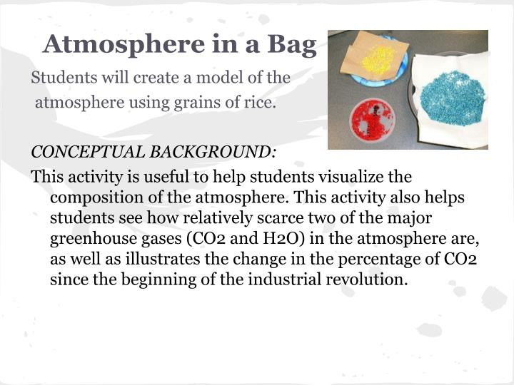 Atmosphere in a Bag