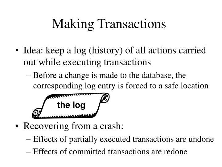 Making Transactions