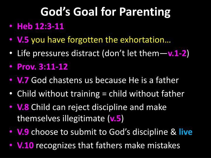 God's Goal for Parenting