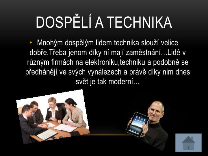 Dospělí a technika