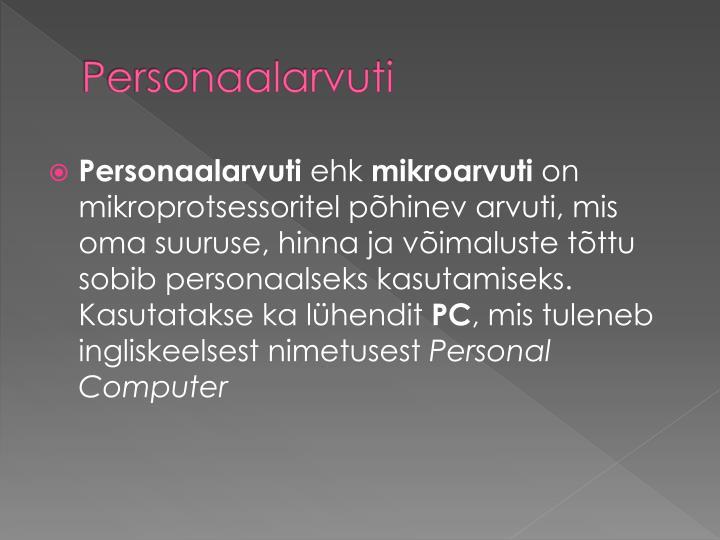 Personaalarvuti