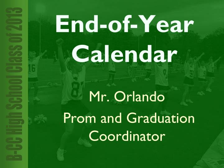 End-of-Year Calendar