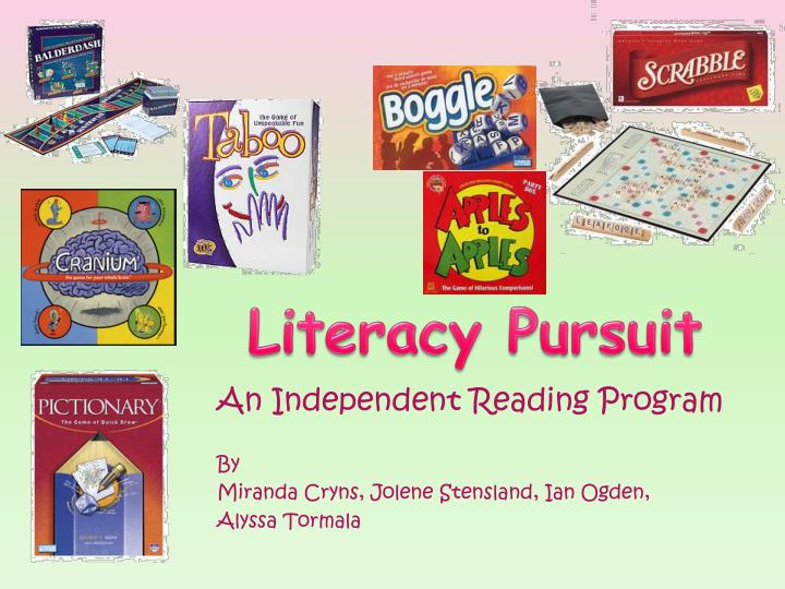An independent reading program by miranda cryns jolene stensland ian ogden alyssa tormala