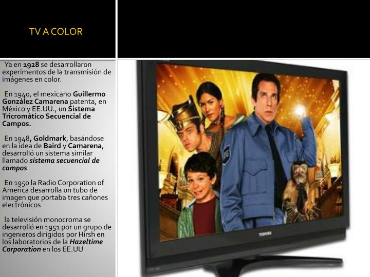 TV A COLOR