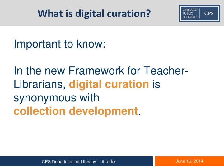 What is digital curation?