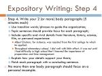 expository writing step 4