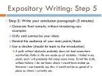 expository writing step 5