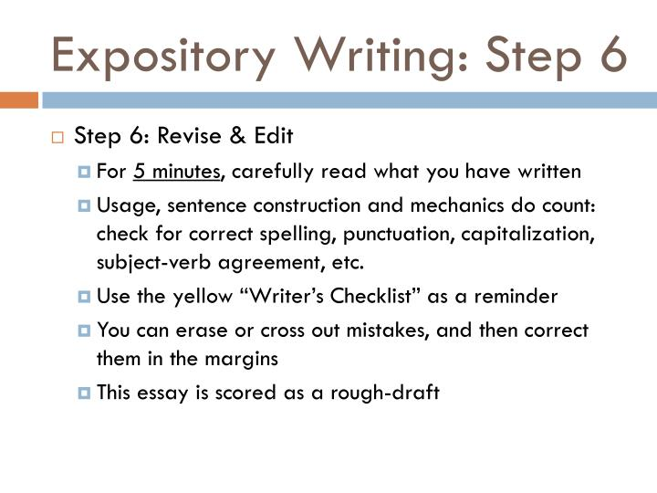 Expository Writing: Step 6