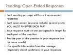 reading open ended responses