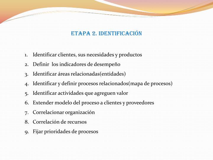 ETAPA 2. Identificación