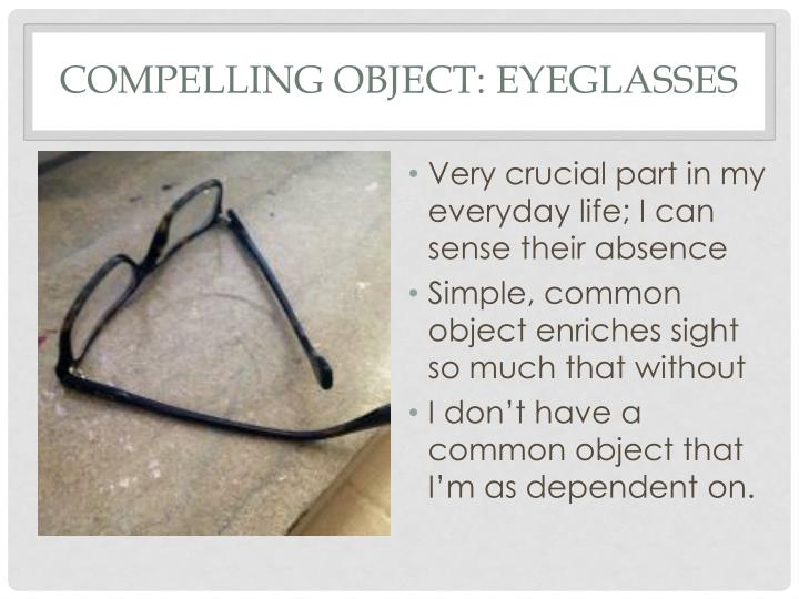Compelling object eyeglasses