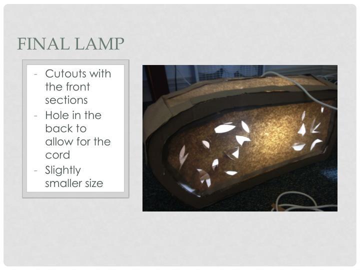 Final Lamp