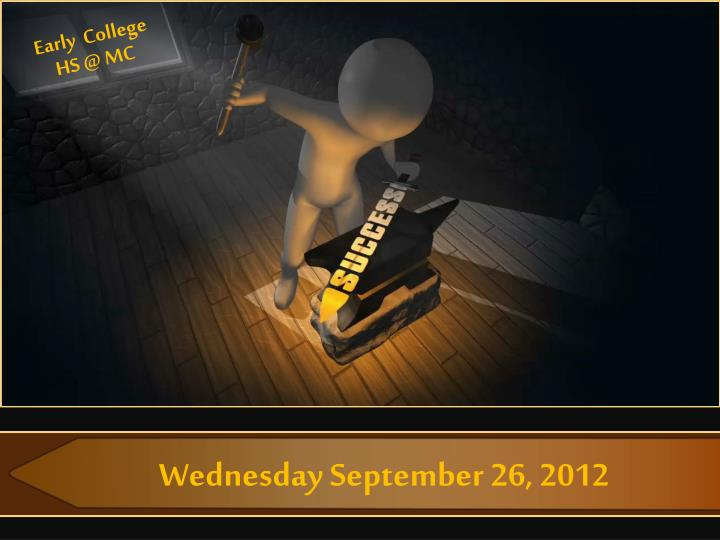 Wednesday september 26 2012
