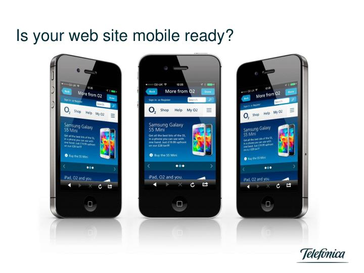 Is your web site mobile ready?