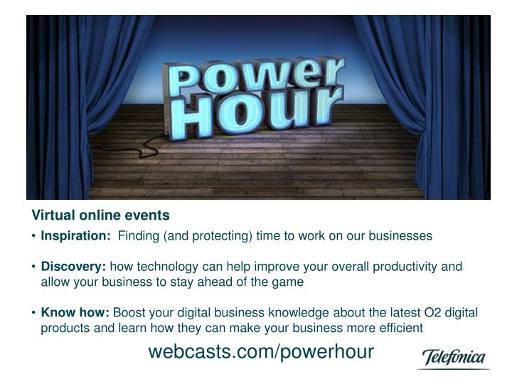 Virtual online events