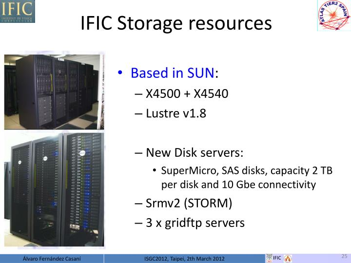 IFIC Storage resources