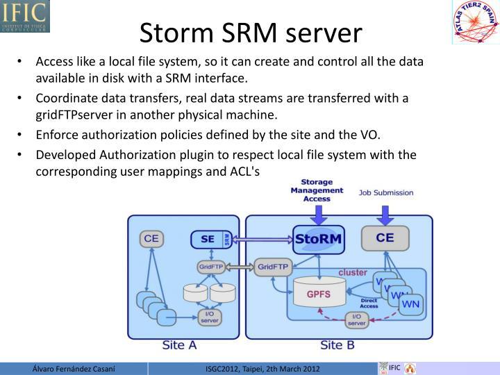 Storm SRM server