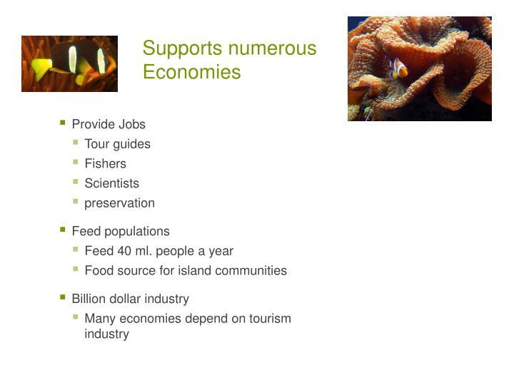 Supports numerous Economies