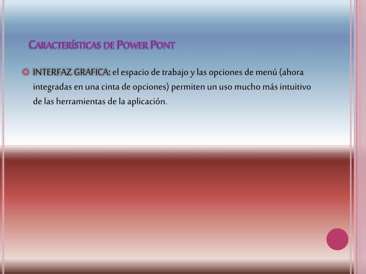 Caracter sticas de power pont