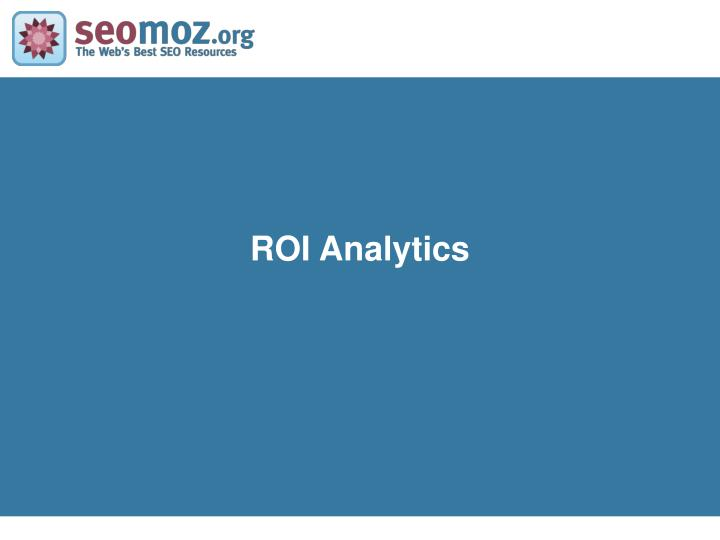 ROI Analytics