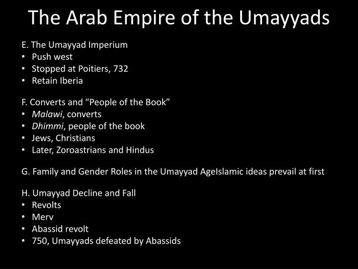 The Arab Empire of the