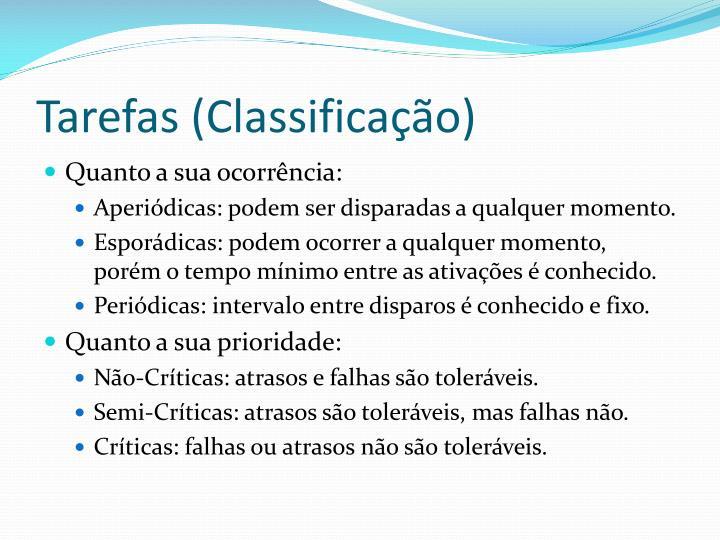 Tarefas (Classificação)