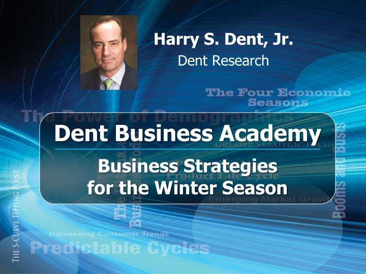 Harry s dent jr dent research