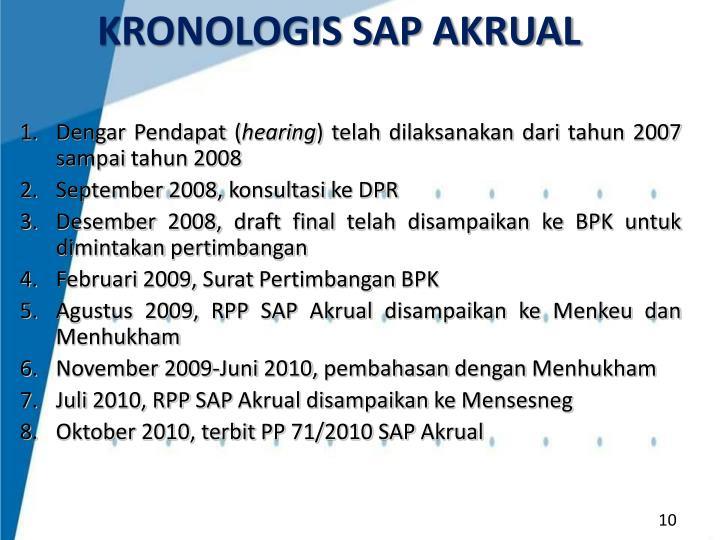KRONOLOGIS SAP AKRUAL