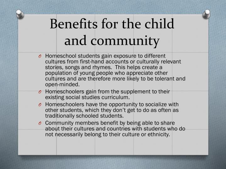 Benefits for the child