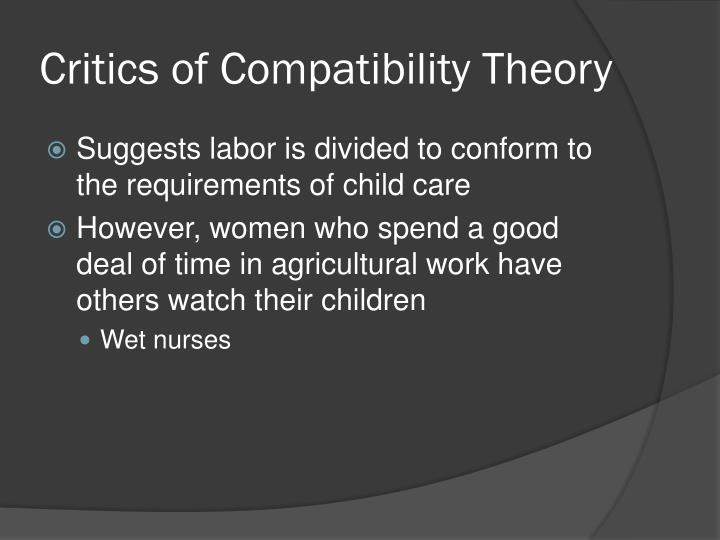 Critics of Compatibility Theory