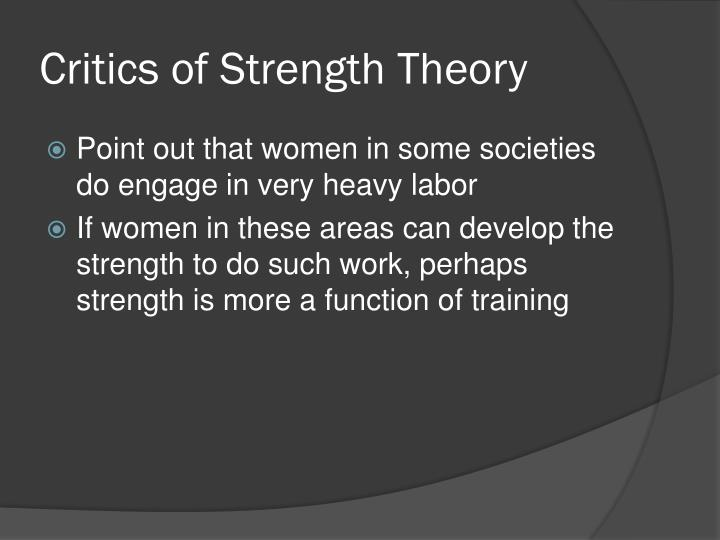 Critics of Strength Theory