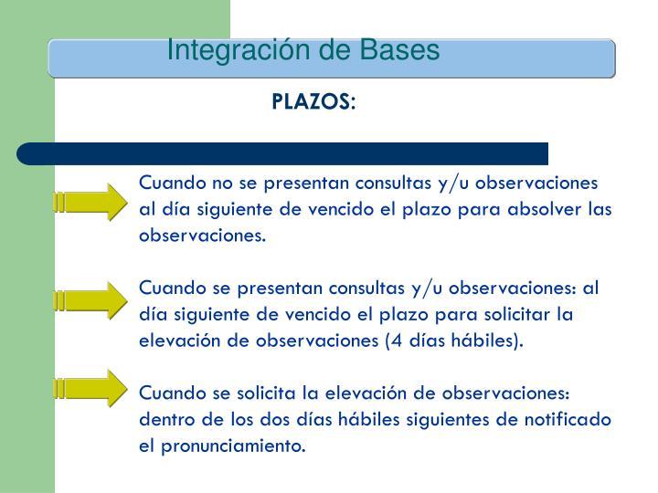 Integración de Bases