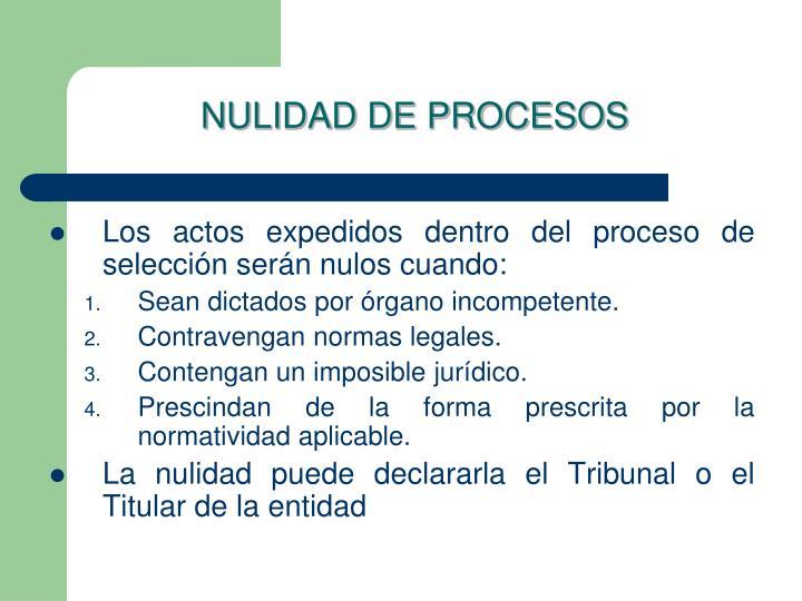 NULIDAD DE PROCESOS