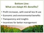 bottom line what are adapt n s benefits