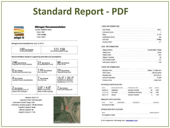 Standard Report - PDF