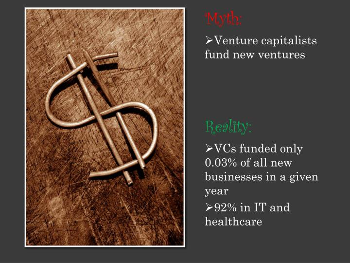VCs funded only 0.03% of all new businesses in a given year